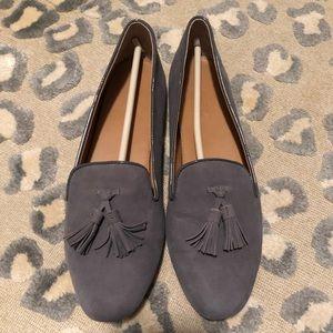 J.Crew Factory Cora Tassel Loafers in Grey